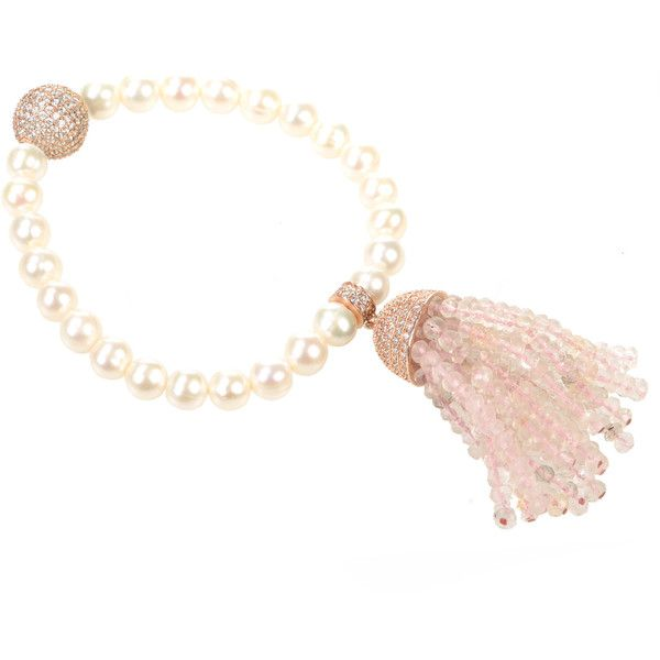 Latelita London Tassel Pearl Bracelet Peridot sUEaA6e