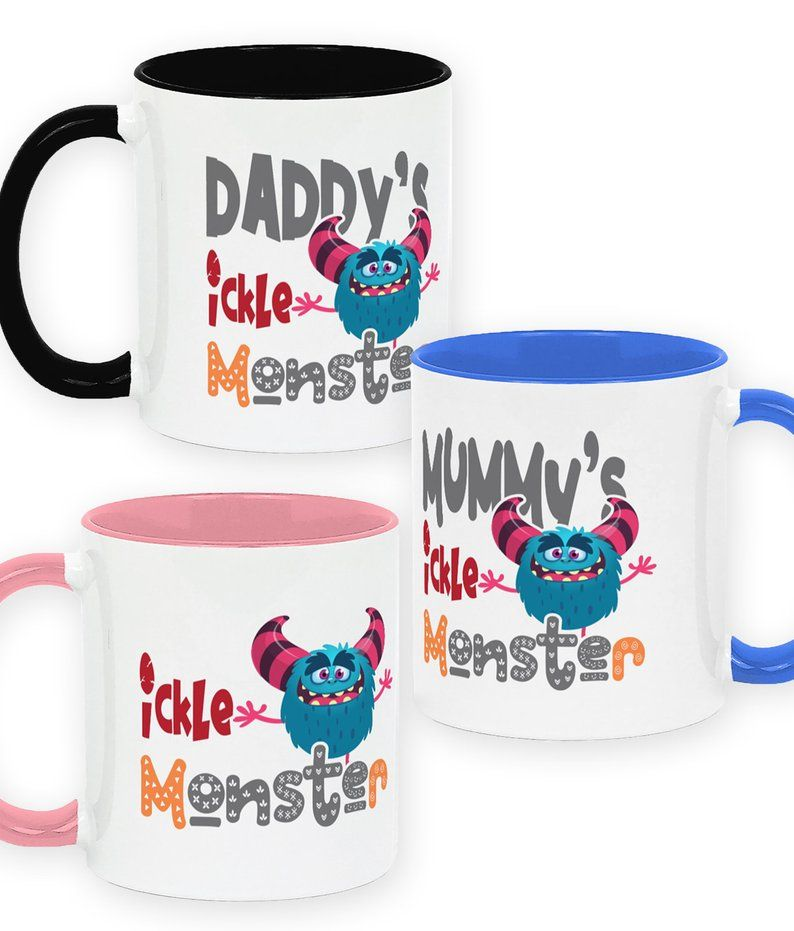 Blue Ickle Monster Sublimation Mug Design, Mummy's Ickle