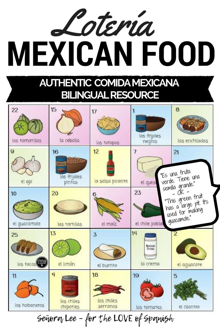 Spanish Cinco de Mayo Activity Mexican Food Bingo