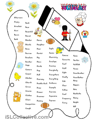 VOCABULARY Worksheet - Free ESL Printable Worksheets Made By Teachers  Vocabulary Worksheets, English Vocabulary, Vocabulary