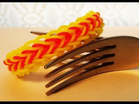CORNROW bracelet - 2 FORKS. Designed and loomed by Cheryl Mayberry. Click photo for YouTube tutorial. 06/06/14.