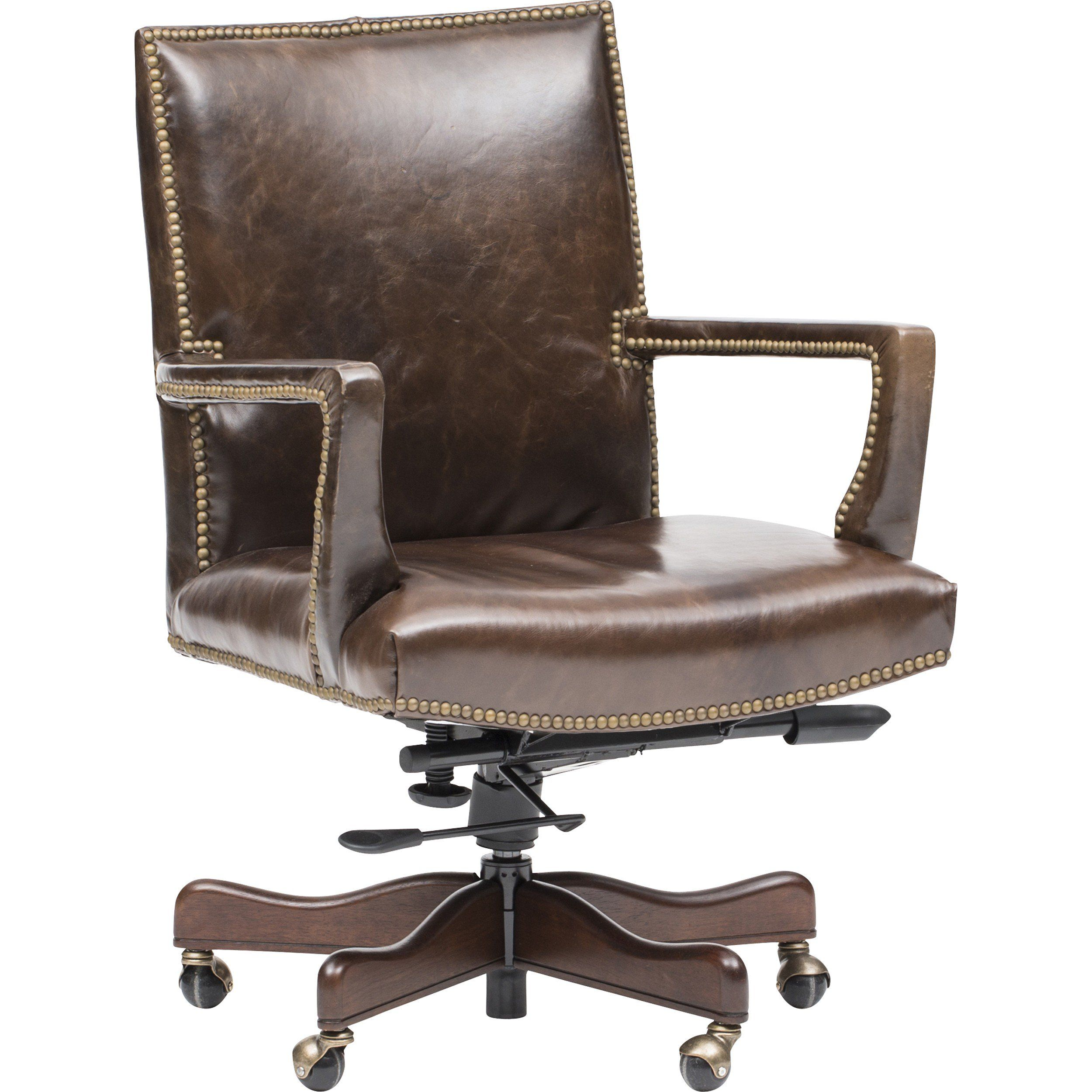 frank executive leather office chair | chair, wooden ...