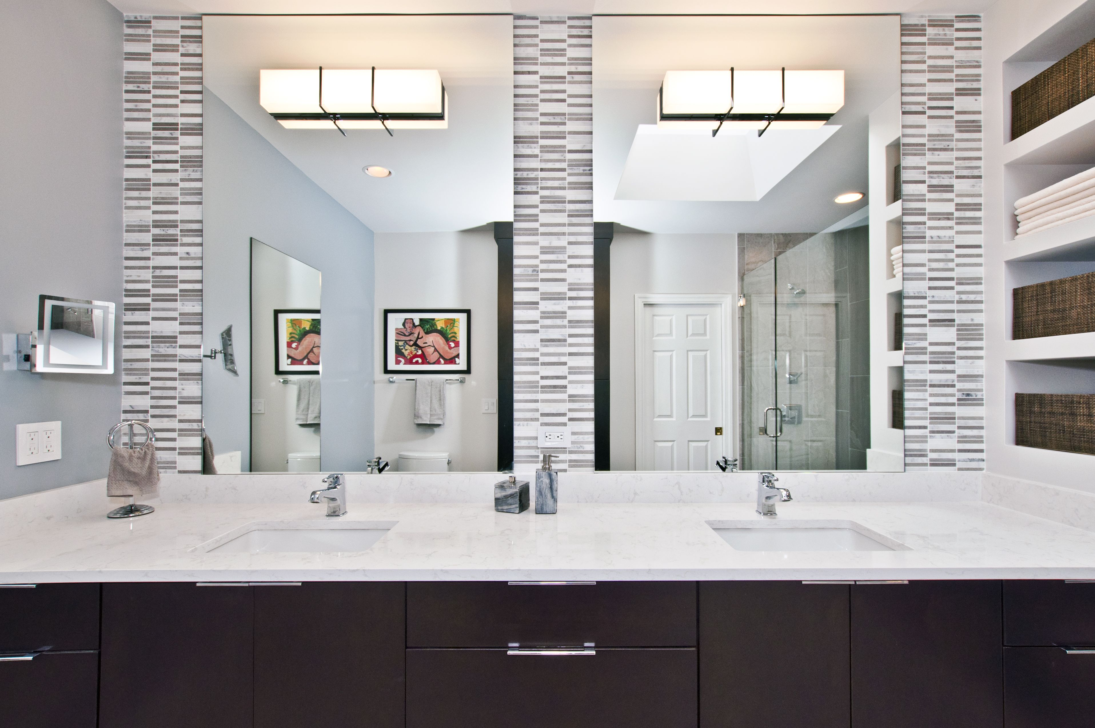 Pretty In Porcelain Bathroom Remodel Nashville Tn Designer