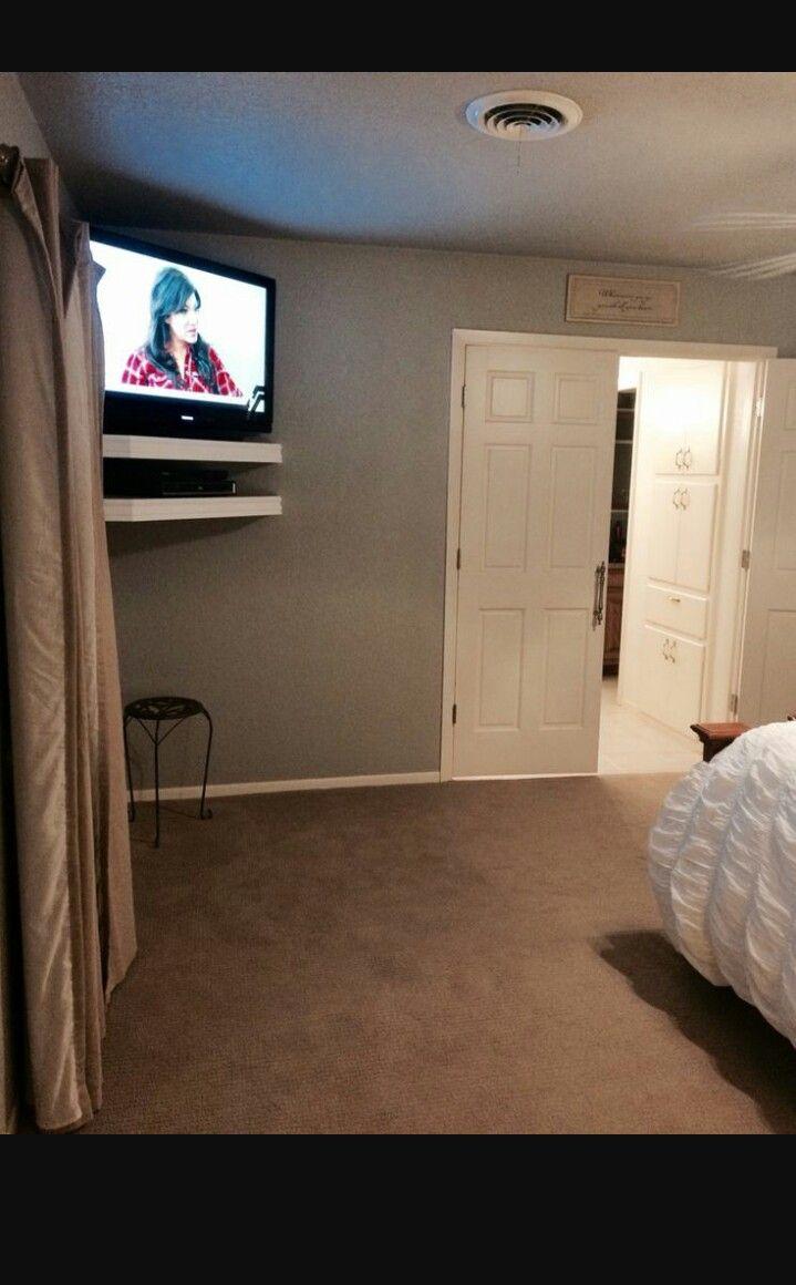 Pin By Brandi On Master Bedroom Ideas Bedroom Tv Wall Tv In