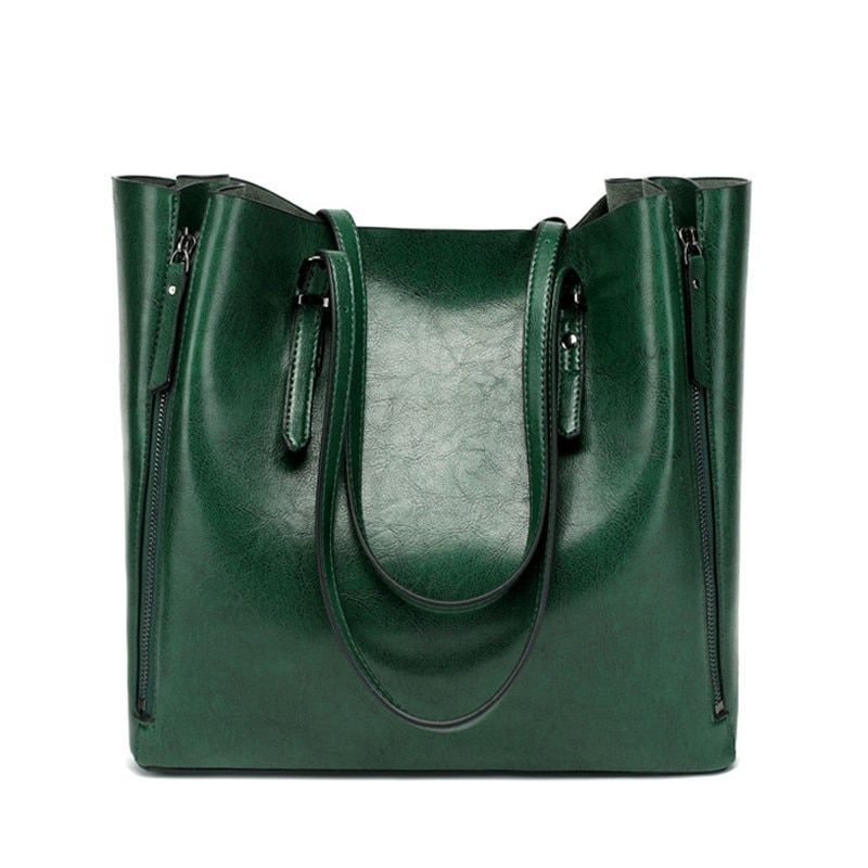 Shoulder Ping Leather Handbag