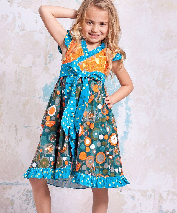 2084f1117bd Look what I found on  zulily! Teal   Orange Agra Misha Dress - Infant