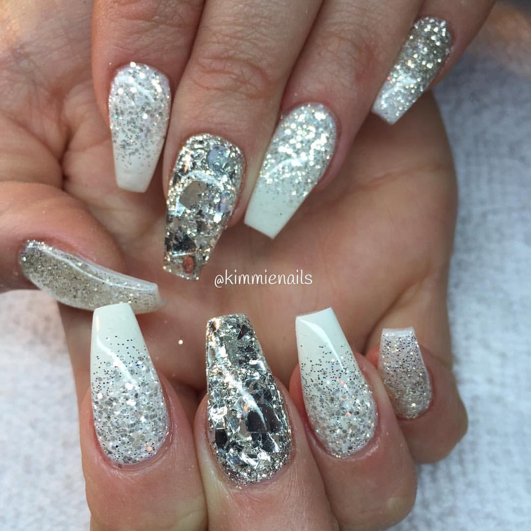 gelenaglar glitter silver
