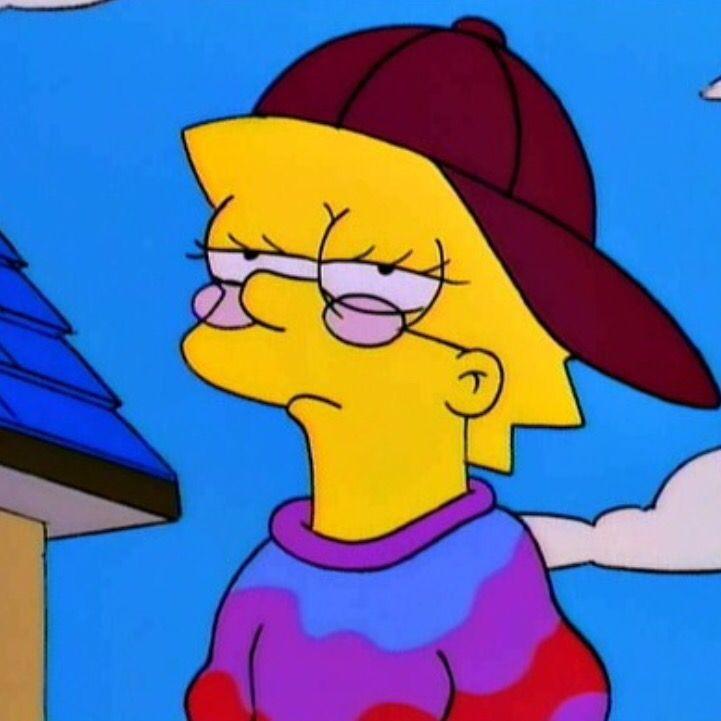 pinterest// pxrxdise Lisa simpson, Cartoon profile