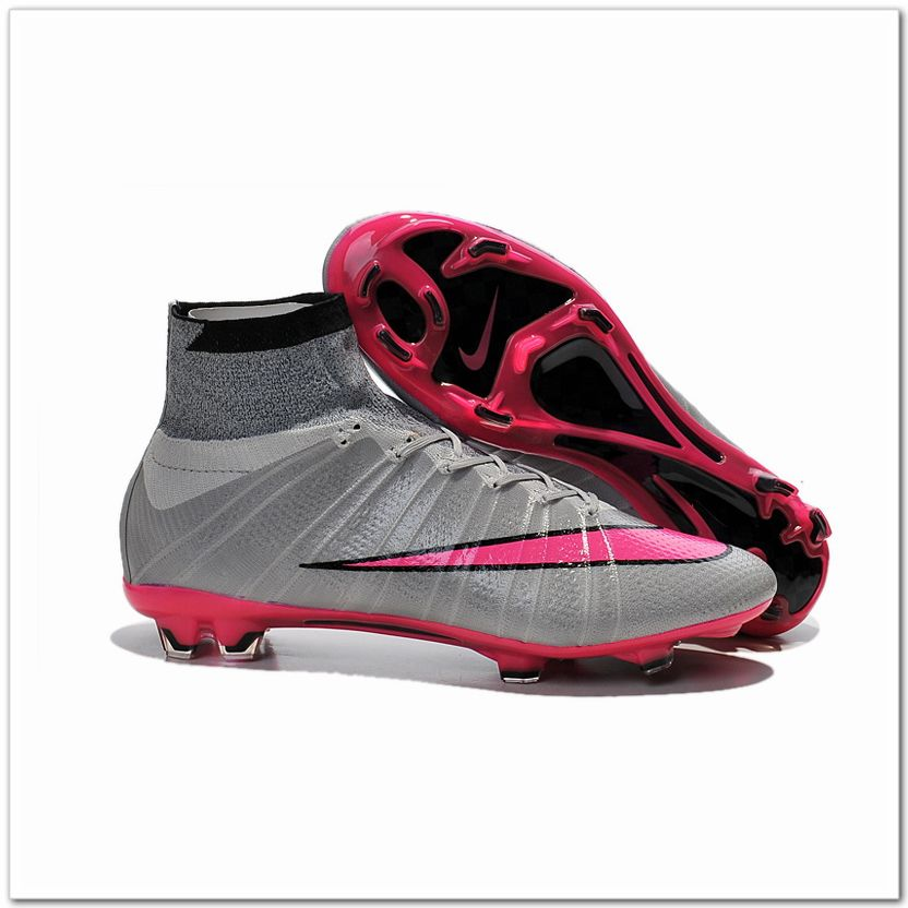 Nike Mercurial Superfly IV FG CR7 Shoes Wolf Grey Hyper Pink Black $105.98