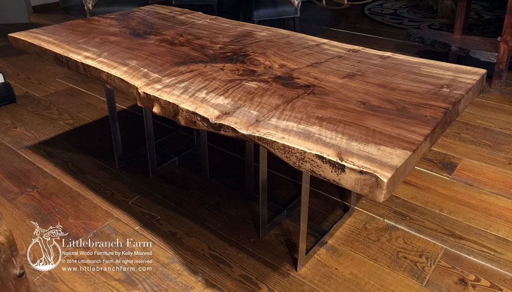 Rustic Table - Live Edge Table - Wood Table - Farm table ...