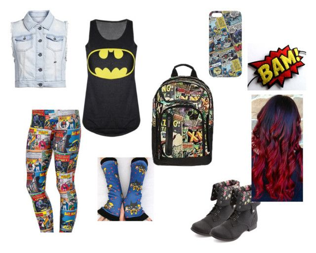 """""""Comic style"""" by justoneme ❤ liked on Polyvore featuring ONLY and Charlotte Russe"""