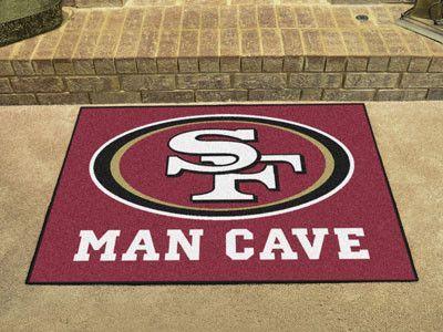 "San Francisco 49ers Man Cave All-Star Mat 33.75""x42.5"""