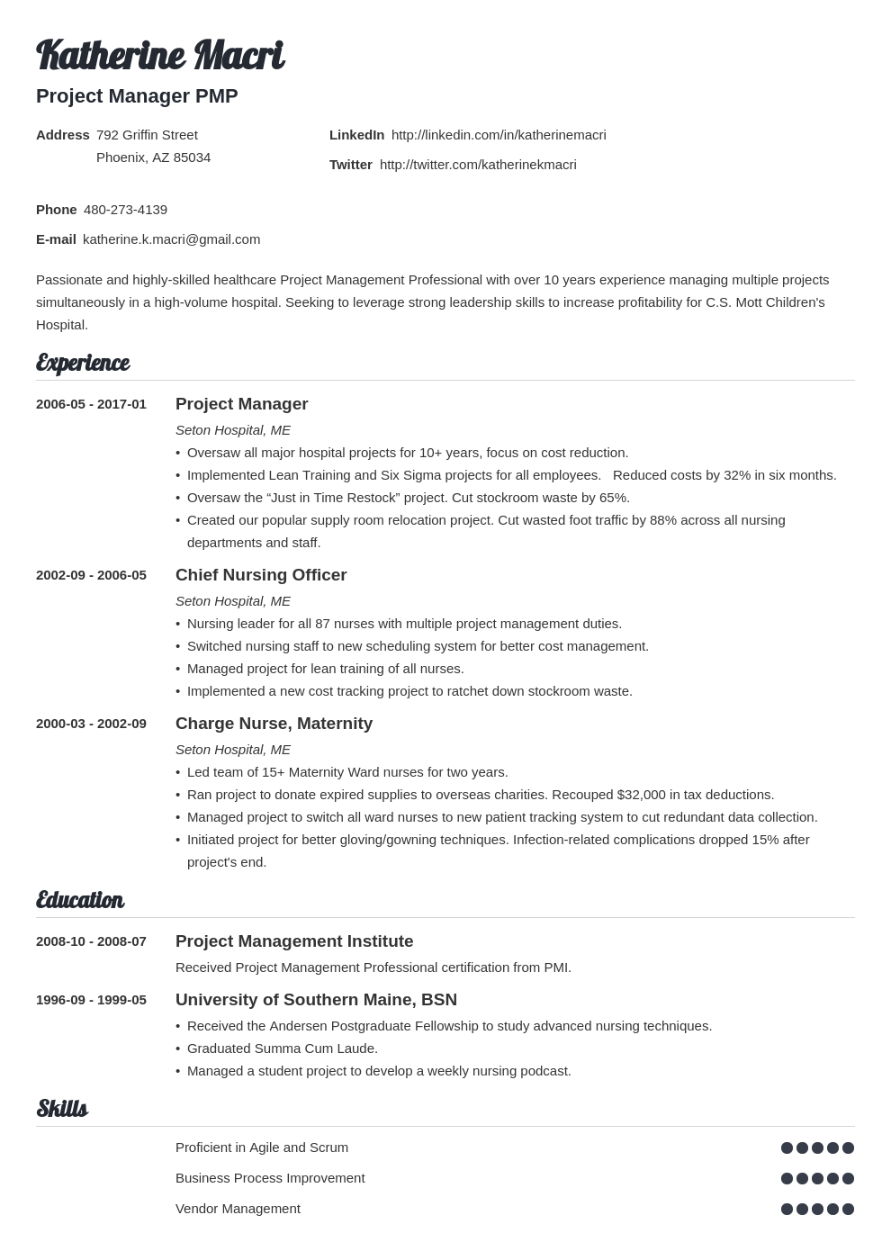 Project Manager Resume Template Valera Resume Examples Project Manager Resume Manager Resume