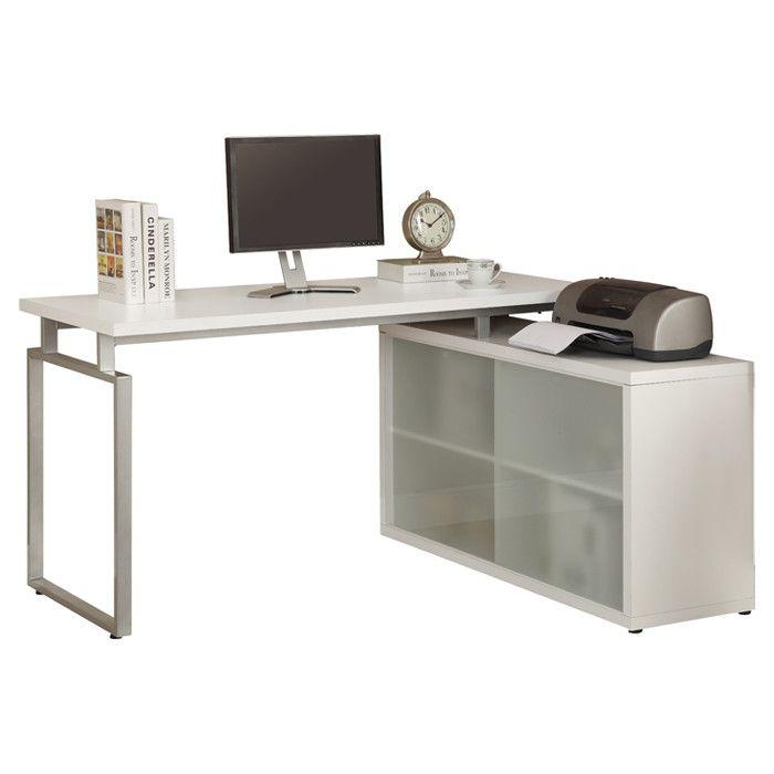 Marinescu Wooden Writing Desk White Writing Desk Wooden Writing Desk Contemporary Writing Desk