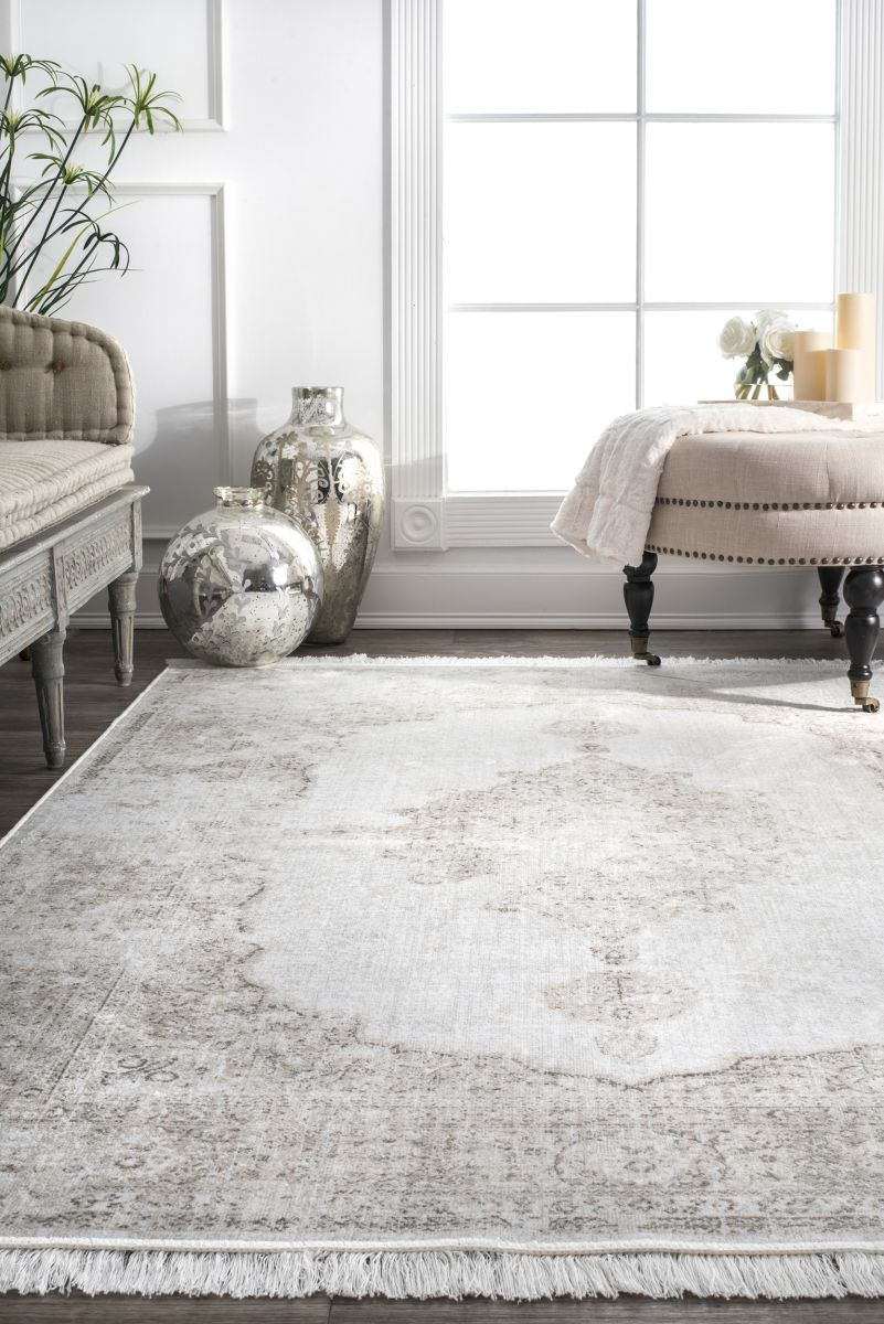 Nightscape Withering Medallion Fringe Ivory Rug Rugs Usa Fringe Rugs Rugs In Living Room