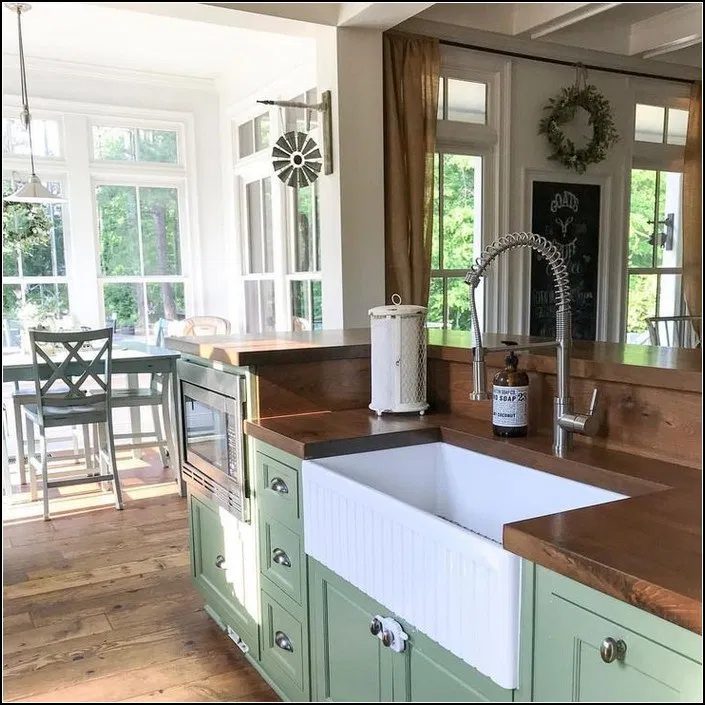 150+ best farmhouse kitchen sink design ideas and decor 21 ...