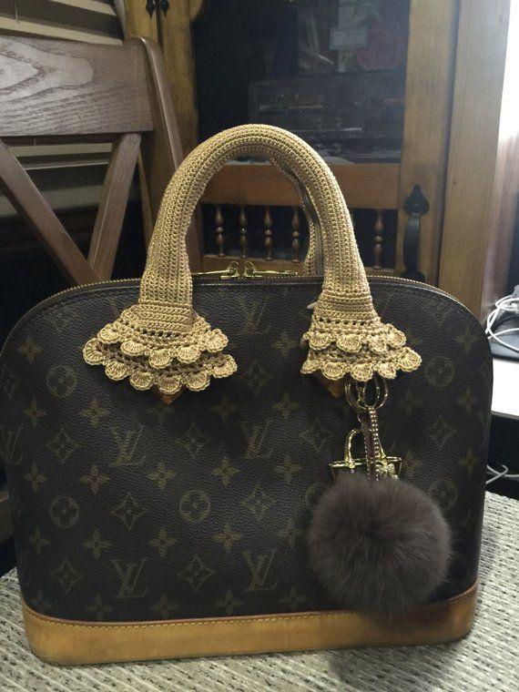 3a2349e435bb Crochet Handle Cover with zipper for Louis Vuitton-Speedy 25-30-35   Alma