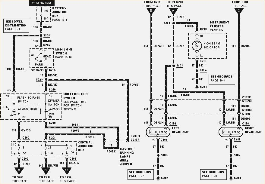 Information On Headlight Wiring Diagram Chart 2000 Ford F650 I