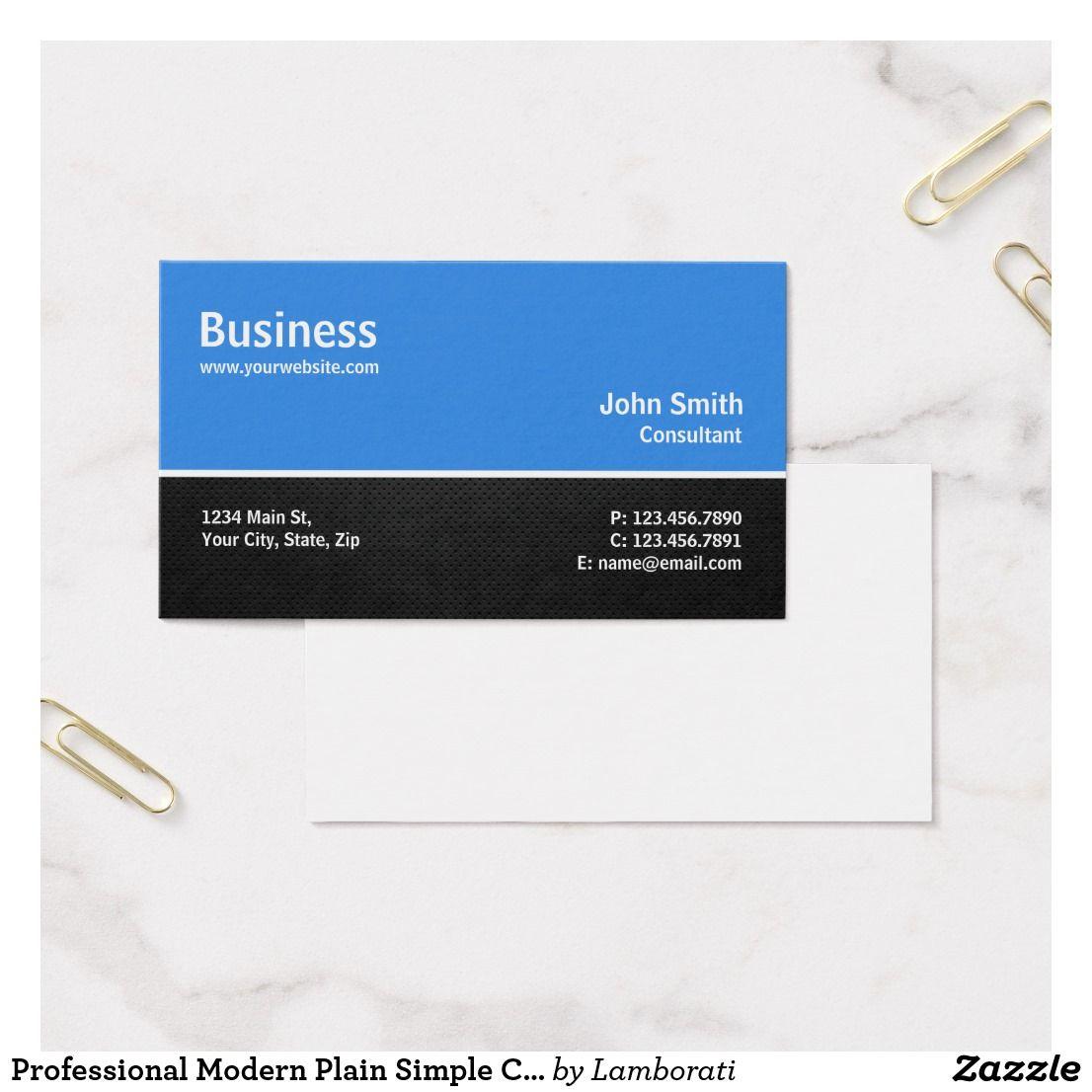 Professional Modern Plain Simple Computer Repair Business Card ...