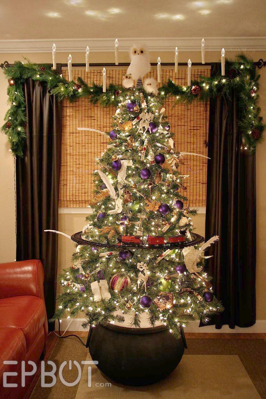 Christmas Tree Alternatives Upon Christmas Trees Artificial Hobby Lobby Such Christmas Ch Harry Potter Christmas Tree Harry Potter Christmas Hogwarts Christmas