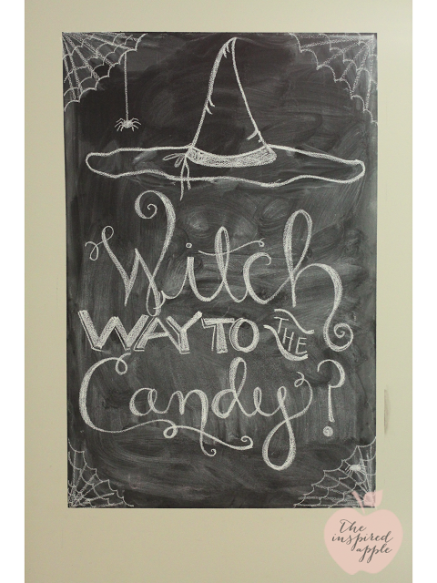 Witch Way To Candy Halloween Chalkboard Art