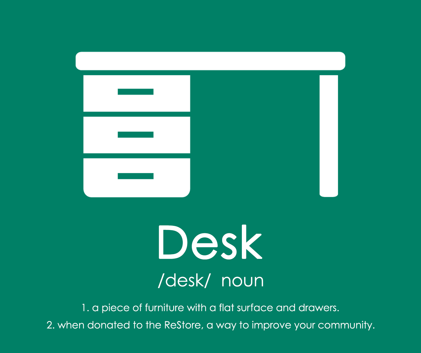 The Richmond ReStore is rewriting the dictionary. The Desk is now a way to improve our community! Learn more: bit.ly/19fjFlx