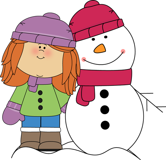 girl with arm around snowman snowman penguins winter teaching rh pinterest com winter clothes clipart black and white winter clothes clip art free