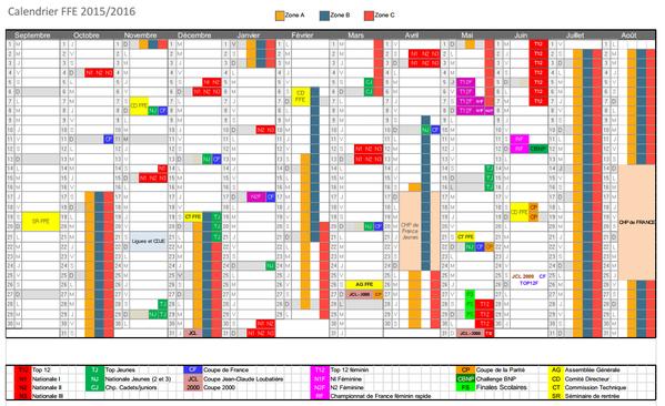 Afin de faciliter votre organisation, le calendrier 2015/2016 est disponible dès à présent http://bit.ly/1Edvp7C