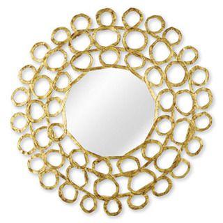 gold carved wood loop mirror