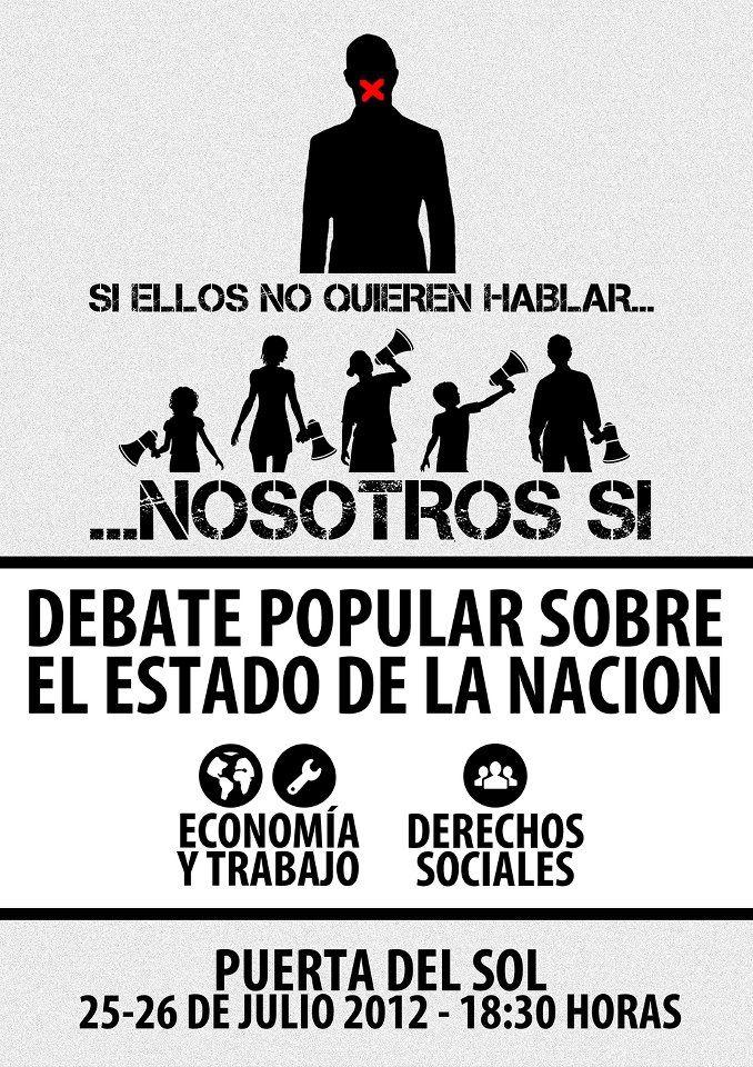 25 y 26 de julio: Debate Popular sobre el Estado de la Nación 2012