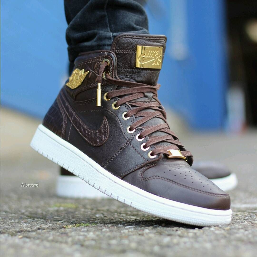 release date: 35482 88891 Air Jordan 1 Pinnacle Brown Croc
