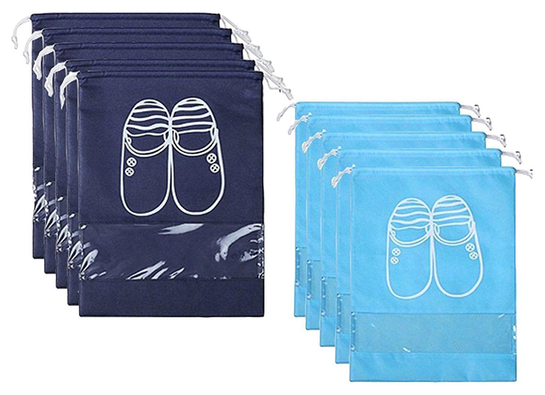 17bfc33562ad Amazon.com: YAMIU 10 Pcs Shoe Bags Dust-Proof Drawstring with Window ...