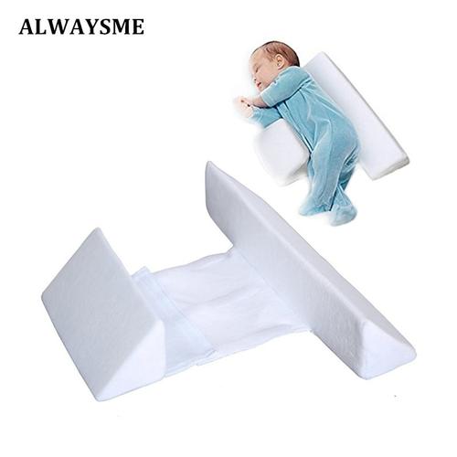 Alwasyme Newborn Infant Bassinet Wedge Crib Wedge Infant Sleep Prevent Flat Head Baby Bassinet Crib Wedge