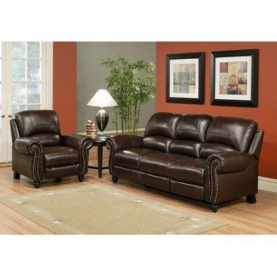 Amazing Leather Pushback Reclining Sofa And Chair By Abbyson Living Ibusinesslaw Wood Chair Design Ideas Ibusinesslaworg