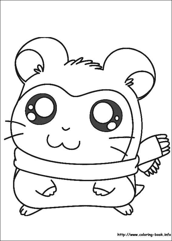 Hamtaro coloring picture | Coloring and Activities | Pinterest ...
