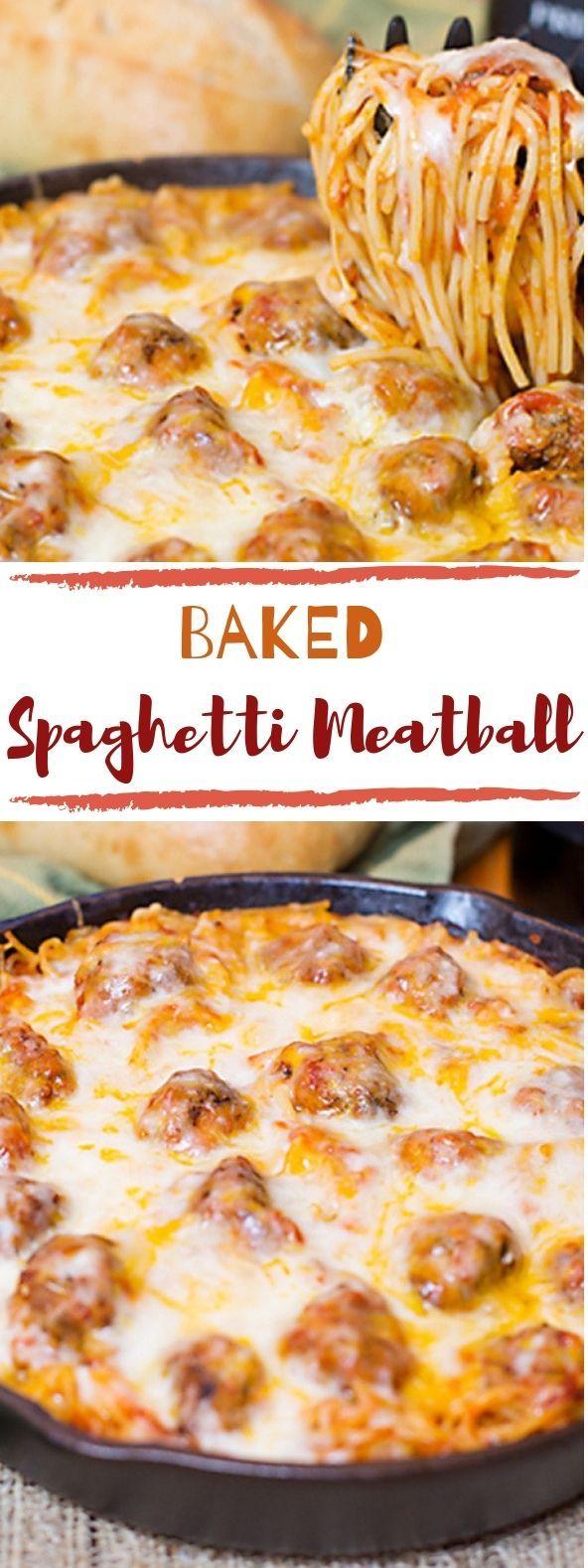 Photo of Baked Spaghetti & Meatballs #italianfood #deliciousdinner