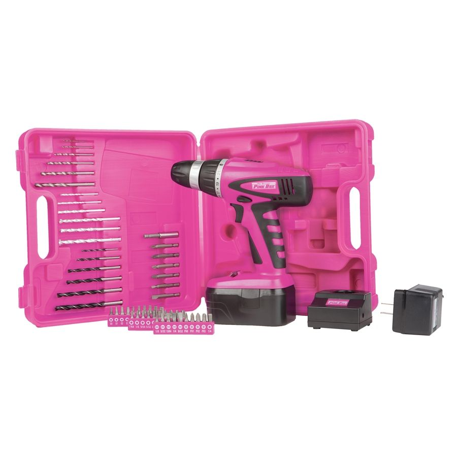 Pink 18-Volt Cordless Drill, NIC