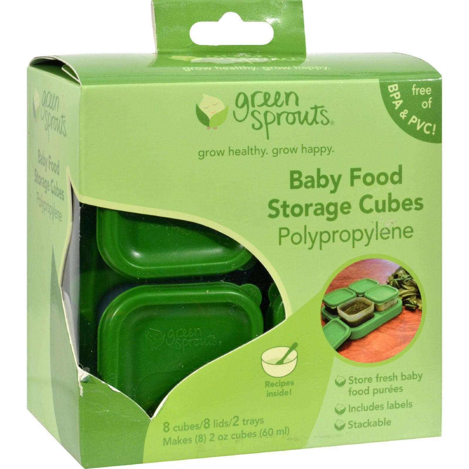 Freeze or refrigerate fresh homemade baby food for later. Each Tray holds  sc 1 st  Pinterest & Green Sprouts Food Storage Cubes - 8 Pack | Homemade baby foods ...
