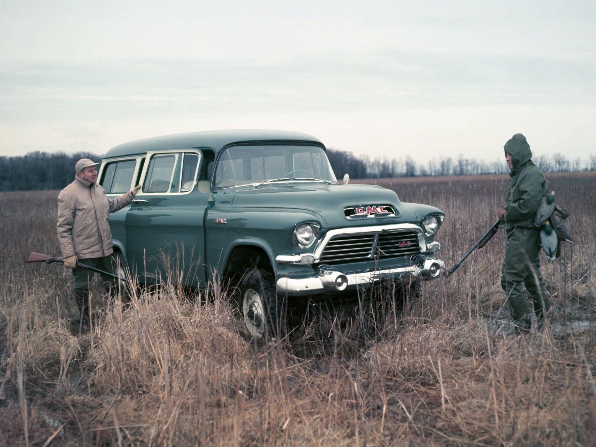 1957 Gmc S 100 Suburban Pistons Pinterest Trucks Chevy 4x4