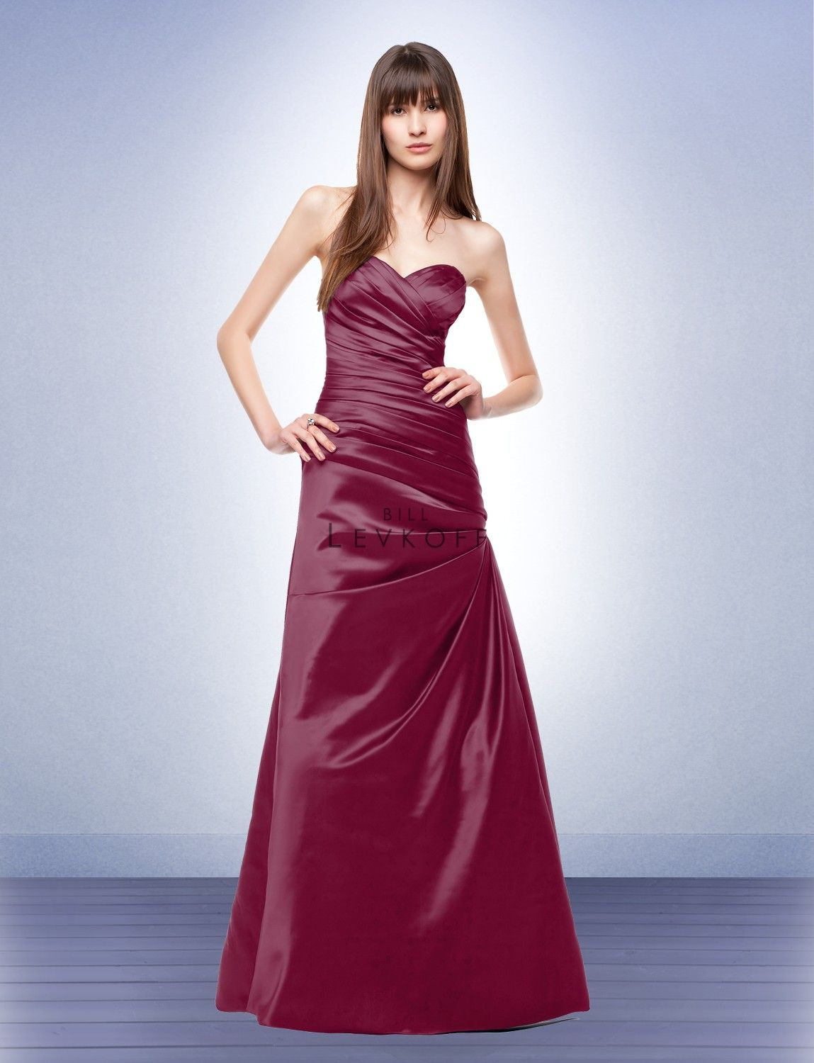 Bridal gowns with red accents  Bridesmaid Dress Style   Bridesmaid Dresses by Bill Levkoff