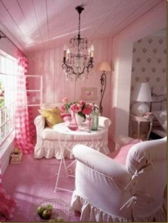 Looks like a comfy sunroom. love it. | Gaudy Pink things | Pinterest ...