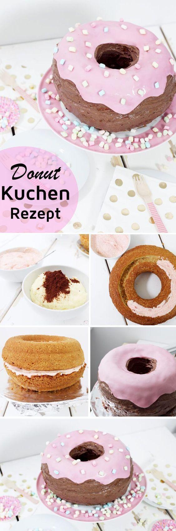 Tortenrezepte: Donut-Kuchen backen   - Backen -