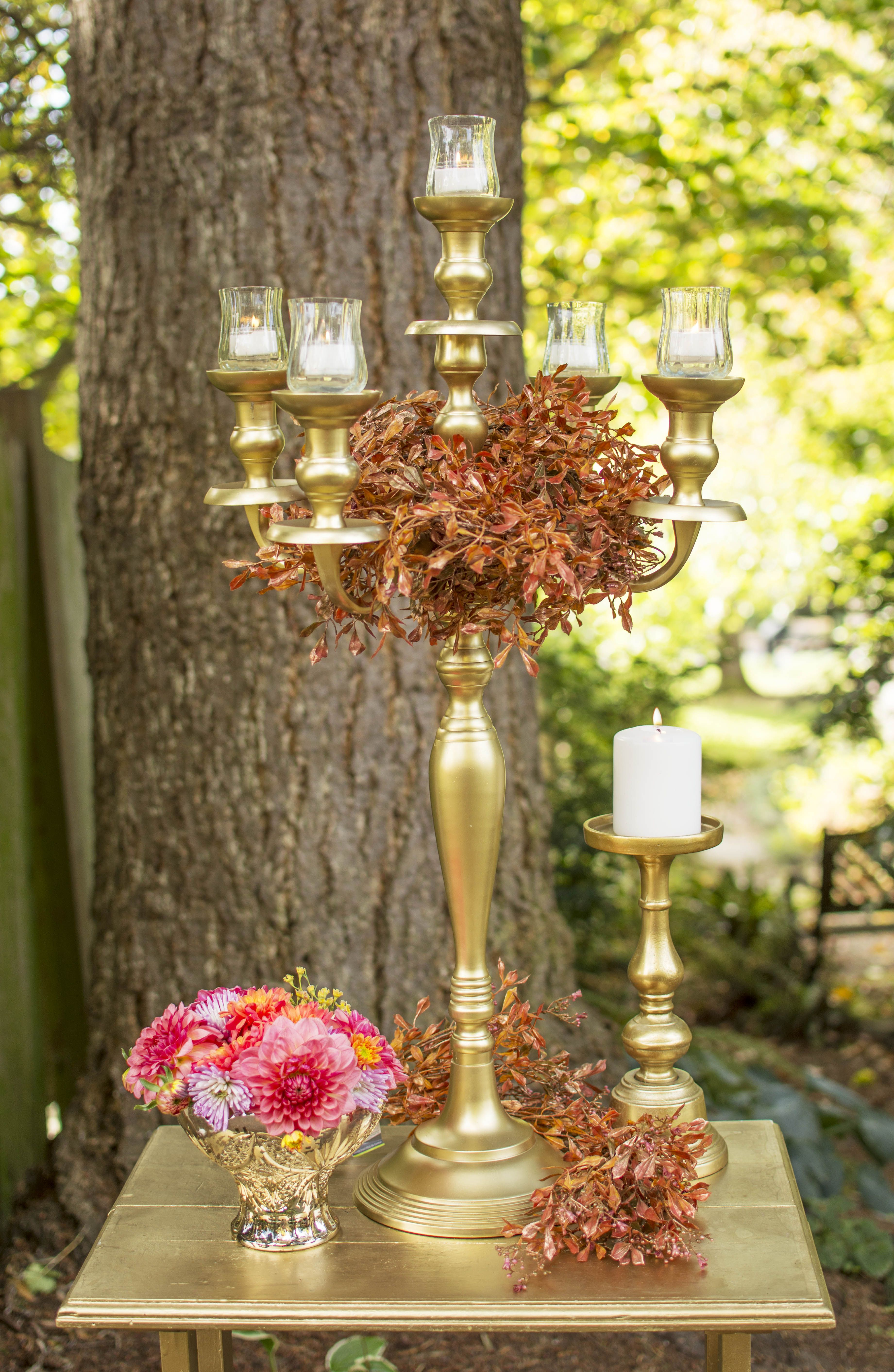 Our gold candelabra candle holder is a classic in