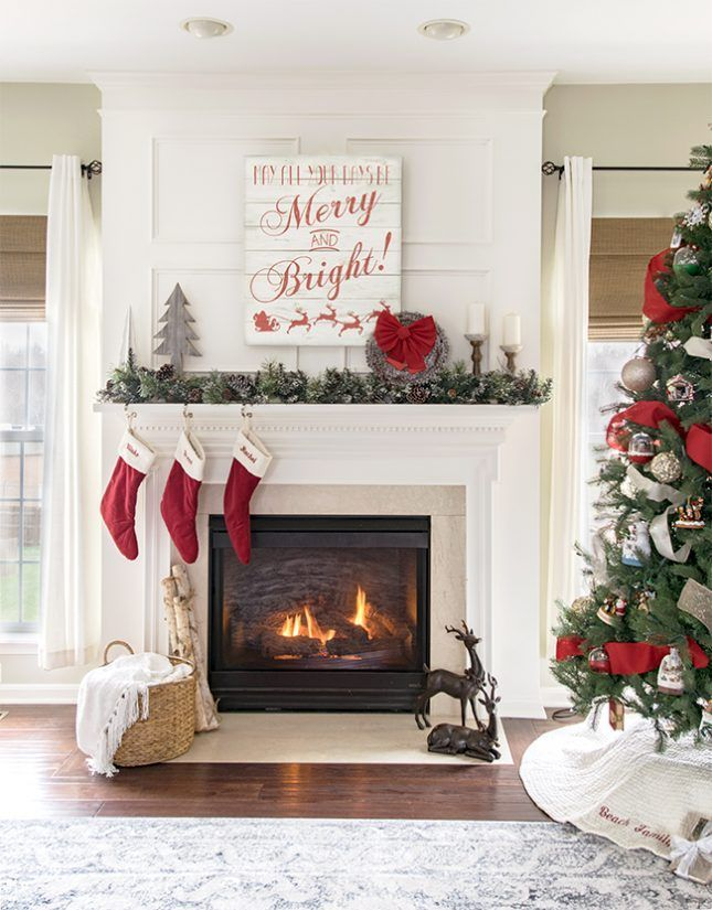 Christmas Mantle Decor and Gallery Wall