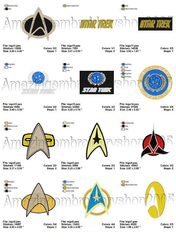 Star Trek Fleet Crew Insignia Embroidered Patch Iron-on Good Luck Magic Charm