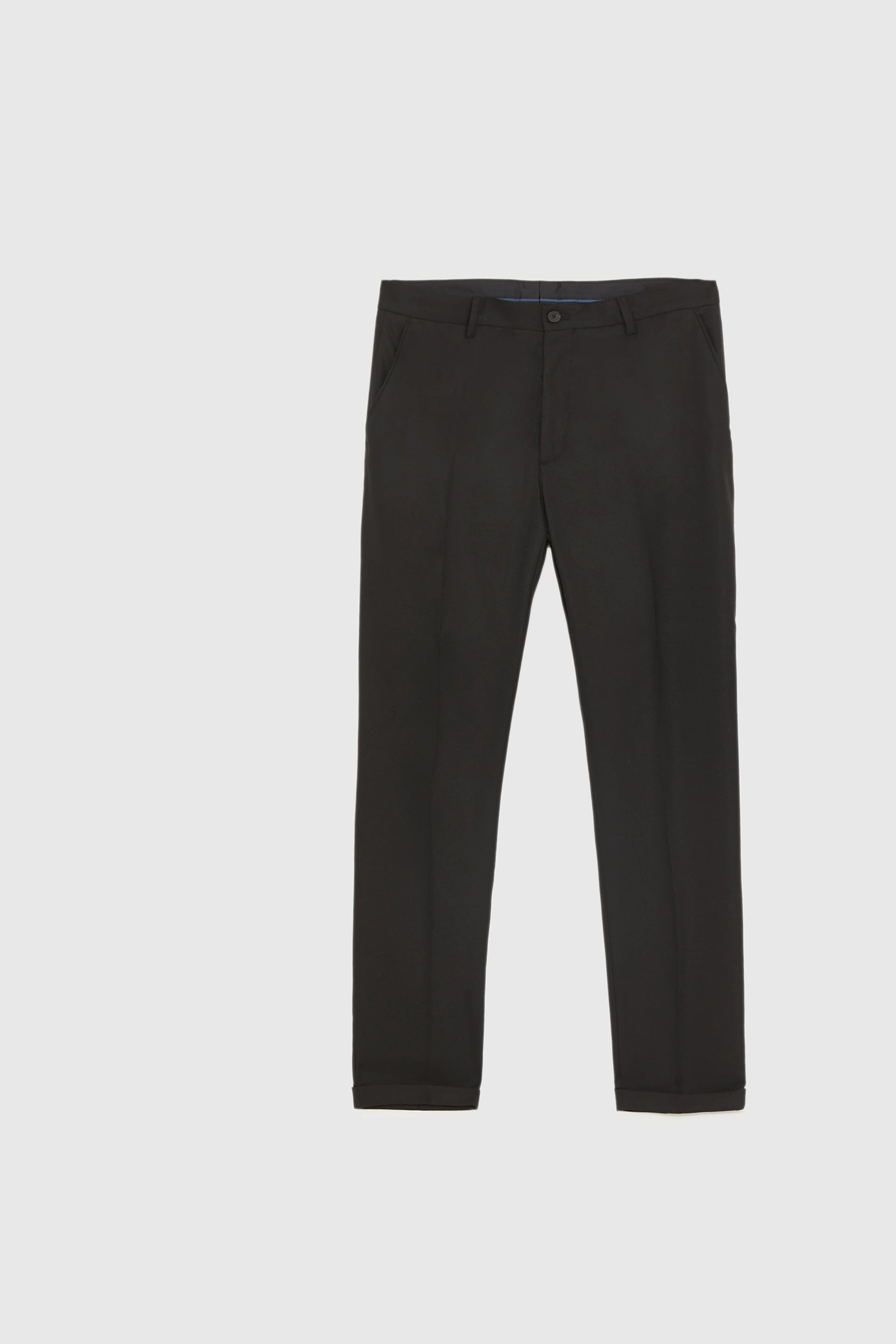 eafac594 TEXTURED CROPPED SUIT TROUSERS - View All-TROUSERS-MAN | ZARA United Kingdom