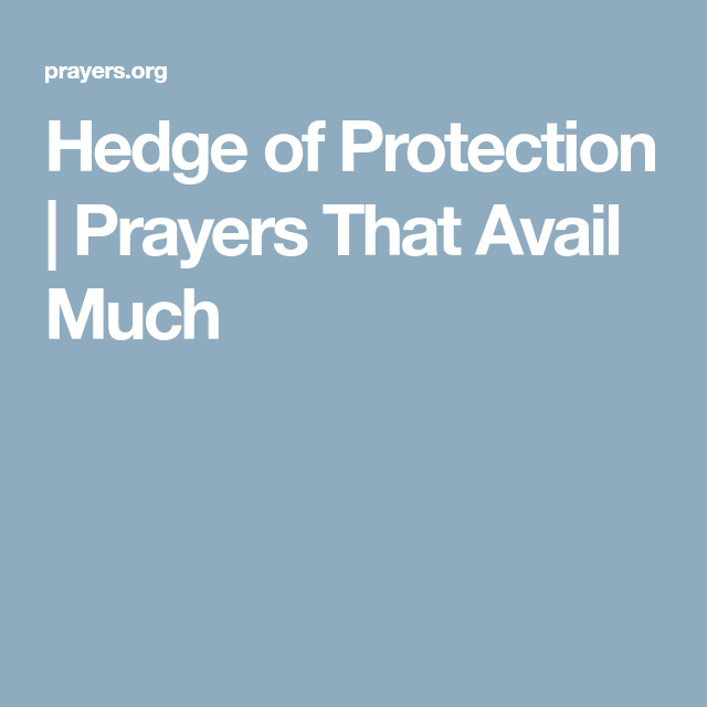 Hedge of Protection | Prayers That Avail Much | prayers