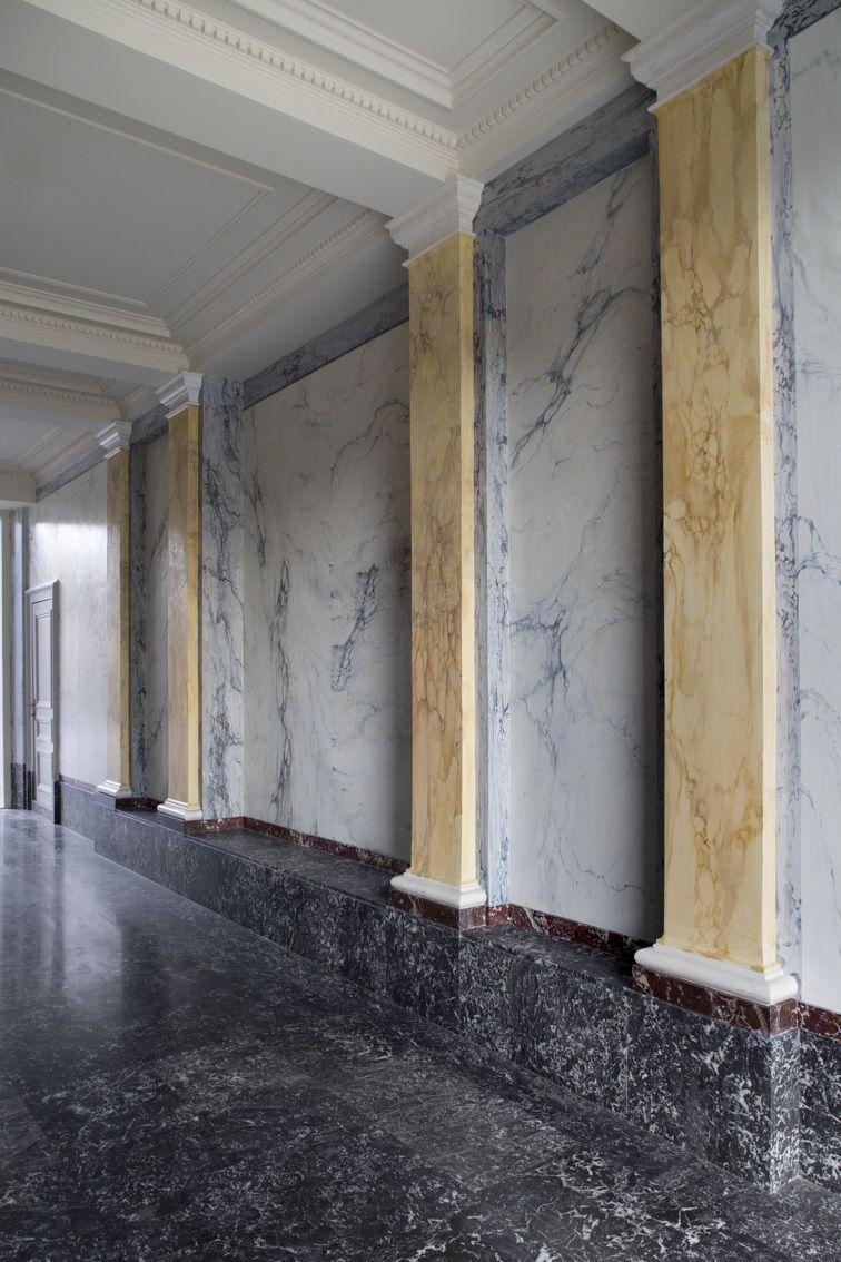 Mouluren Pol Standaert Brugge - Faux marbres  Angele Boddaert