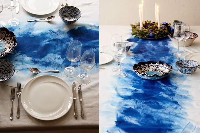 screenprinted tablecloth