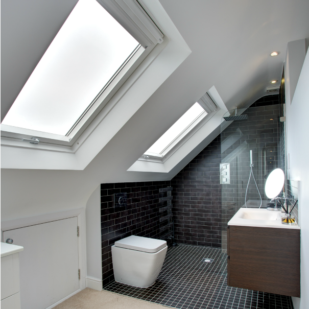 Badkamer idee n dormer loft conversion lofts and ceilings for Bathroom ideas loft conversion